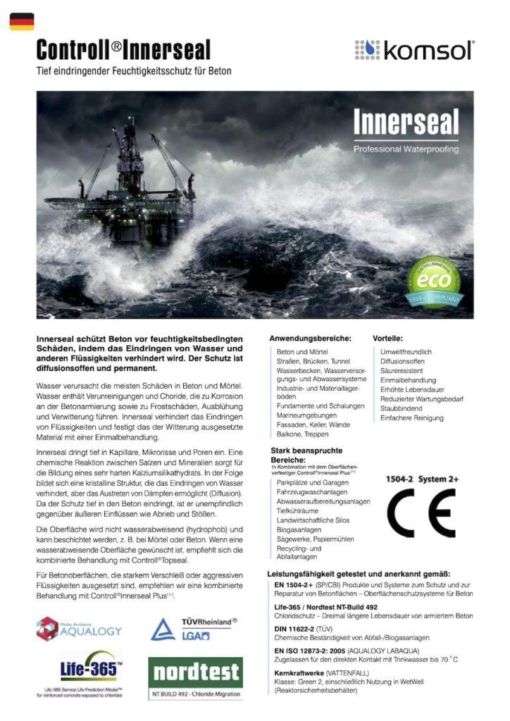 TDS Controll Innerseal DE 2018 GREENLINE komsol Deutschland technisches Datenblatt
