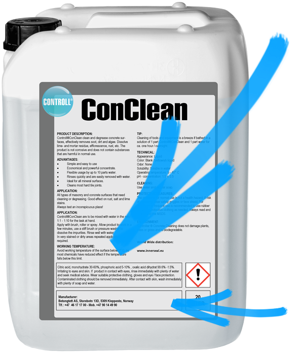 CONTROLL ConClean Produkt Kanister original Pfeil
