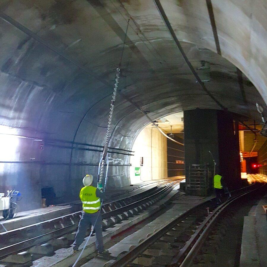 komsol tunnel beton boden decke innerseal versiegelung dauerhaft hochwertige silikate bahn schienen reparatur