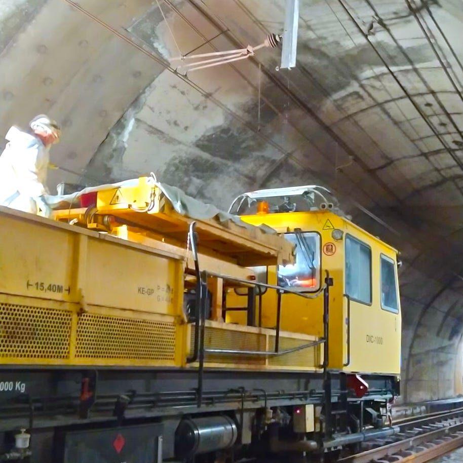 komsol tunnel beton boden decke innerseal versiegelung dauerhaft hochwertige silikate bahn schienen sanierung bahn wartung