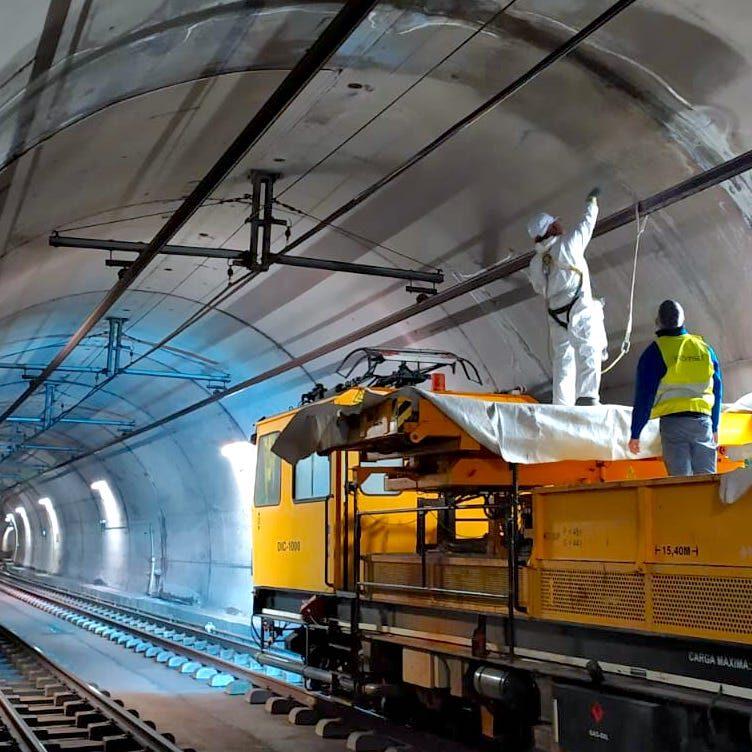 komsol tunnel beton boden decke innerseal versiegelung dauerhaft hochwertige silikate bahn schienen sanierung bahn