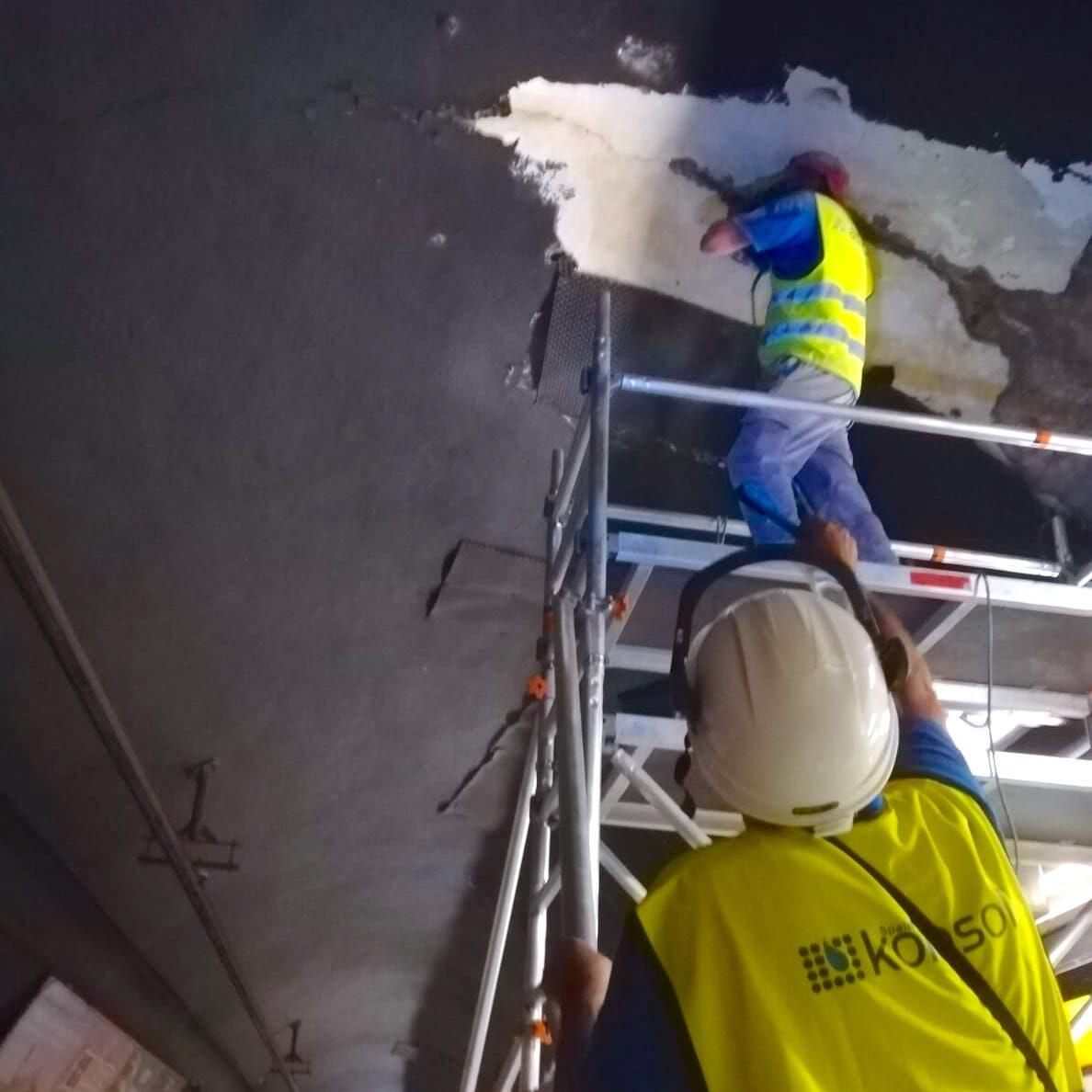 komsol tunnel beton boden decke innerseal versiegelung dauerhaft hochwertige silikate bahn schienen sanierung ubahn vermessung