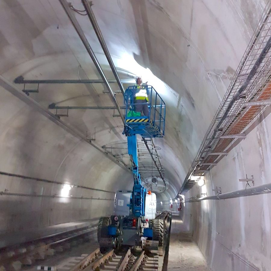 komsol tunnel beton boden decke innerseal versiegelung dauerhaft hochwertige silikate bahn schienen sanierung