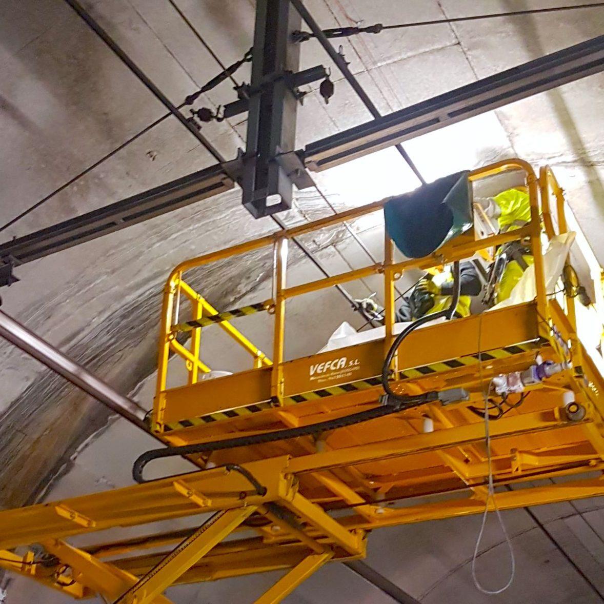 komsol tunnel beton boden decke innerseal versiegelung dauerhaft hochwertige silikate decke