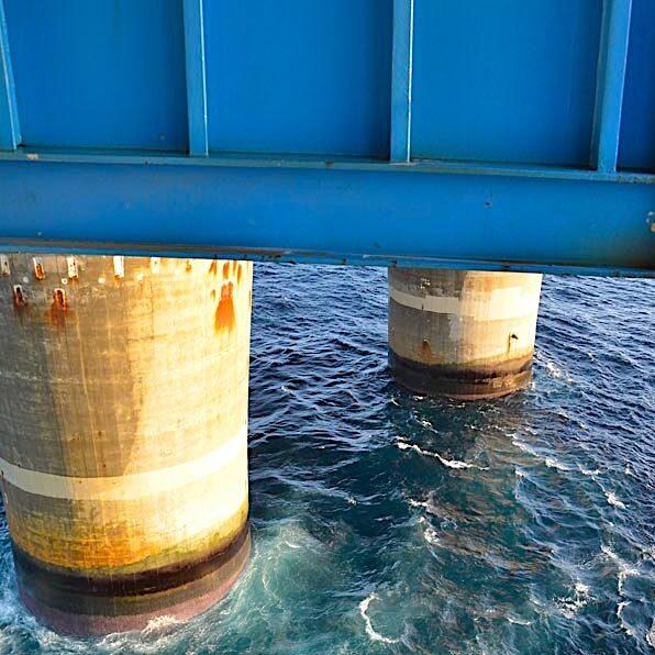 komsol innerseal Oelplattformen Condeep Plattformen Betonflaechen Betonsockel Meer dauerhaft versiegeln Sockel