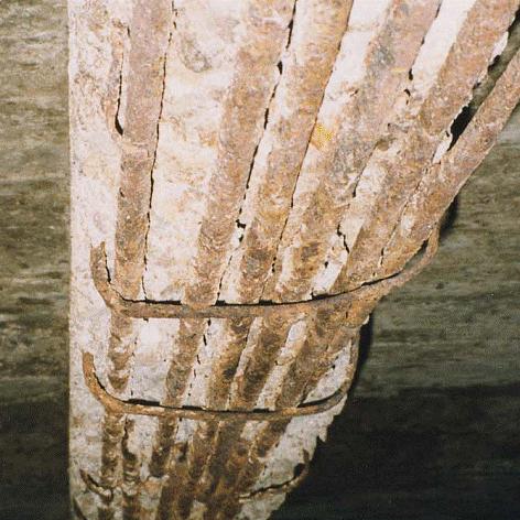 komsol innerseal problem beton beginn abplatzen beschichtung decke traeger