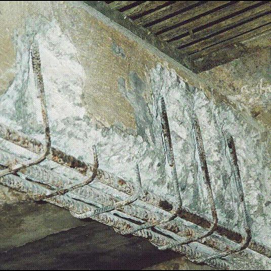komsol innerseal problem beton beginn abplatzen beschichtung decke trager stahl