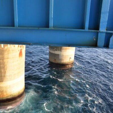 komsol innerseal sanierung versiegelung beton seitenteile sockel pfeiler Skarnsund Bridge wasser