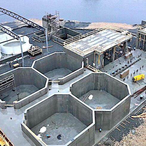 komsol innerseal versiegelung Meerwasser Fischfarm Becken