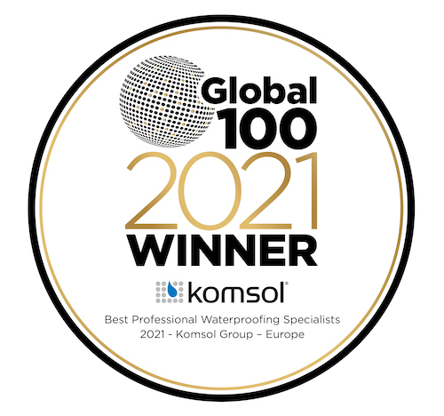 Global 100 2021 award Komsol Hispania winner wasser abweisend waterproofing innerseal