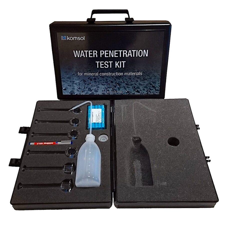 komsol Karsten Pruefung Beton Wassereindringen Karstensches Roehrchen Wassereindringpruefer Wassereindringtest Kit