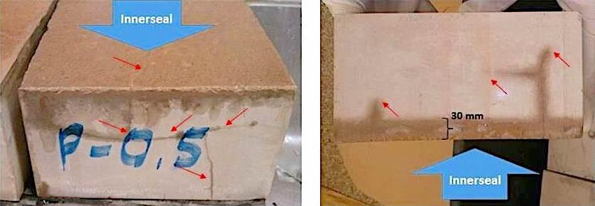 komsol innerseal labor test bam bundesanstalt materialpruefung eindringtiefe versiegeln