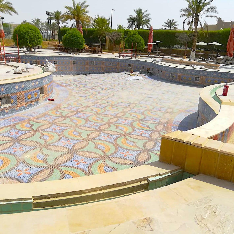 komsol schwimmbad schwimmbaeder topseal innerseal abdichten leck fliesen qatar